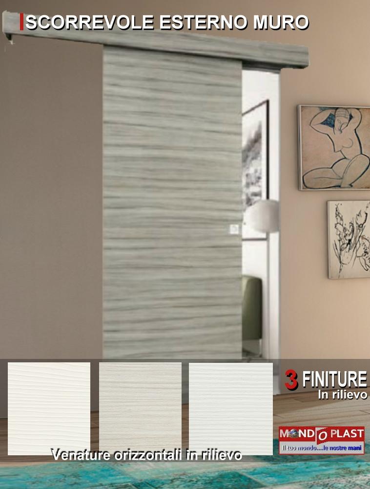 Porta scorrevole esterno muro con mantovana colori con venature a scelta ebay - Aprire finestra muro esterno ...