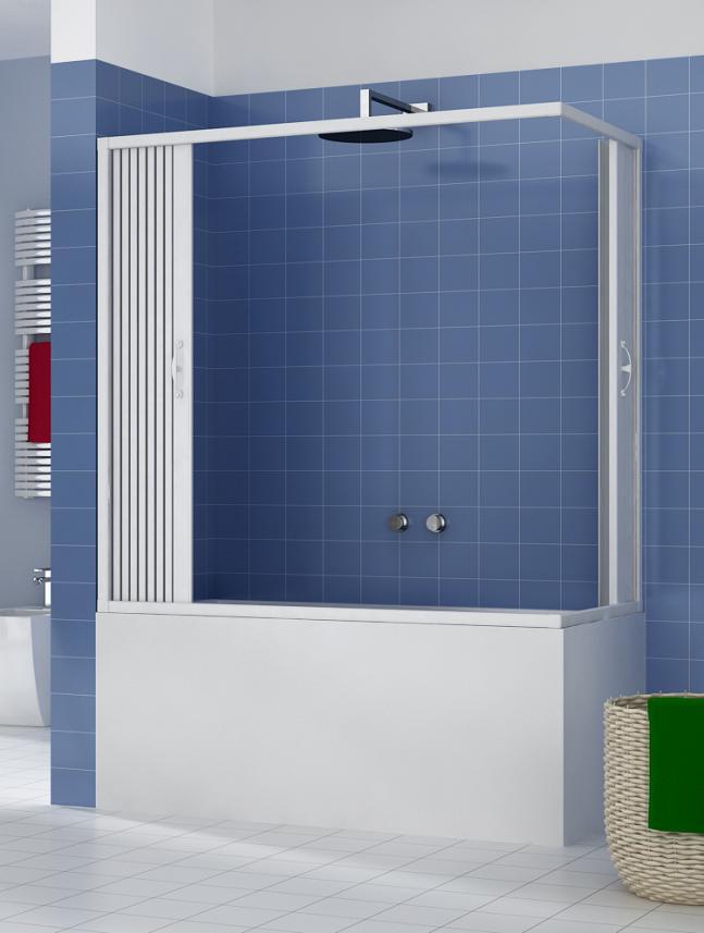 Box doccia vasca cabina soffietto 2 lati apertura ad angolo vari colori e misure ebay - Box doccia salvaspazio ...