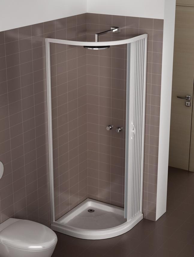 Box doccia a soffietto semicircolare 1 anta varie misure e colori ebay - Box doccia salvaspazio ...