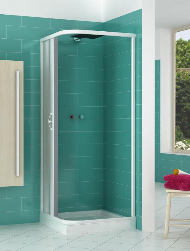 Box doccia a soffietto angolare 2 lati apertura laterale - Box doccia salvaspazio ...