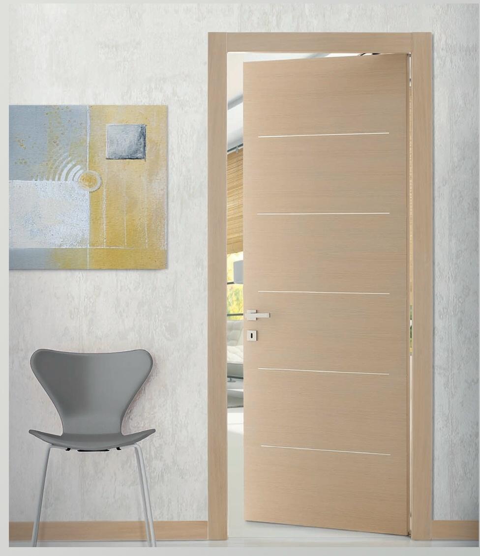 Porte porta interno con 5 inserti orizzontali cromo satinati 7 misure 9 colori ebay - Porte interne da obi prezzi ...