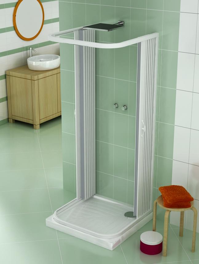 Cabina box doccia soffietto 3 lati 2 ante apertura centrale pi misure e colori ebay - Box doccia salvaspazio ...