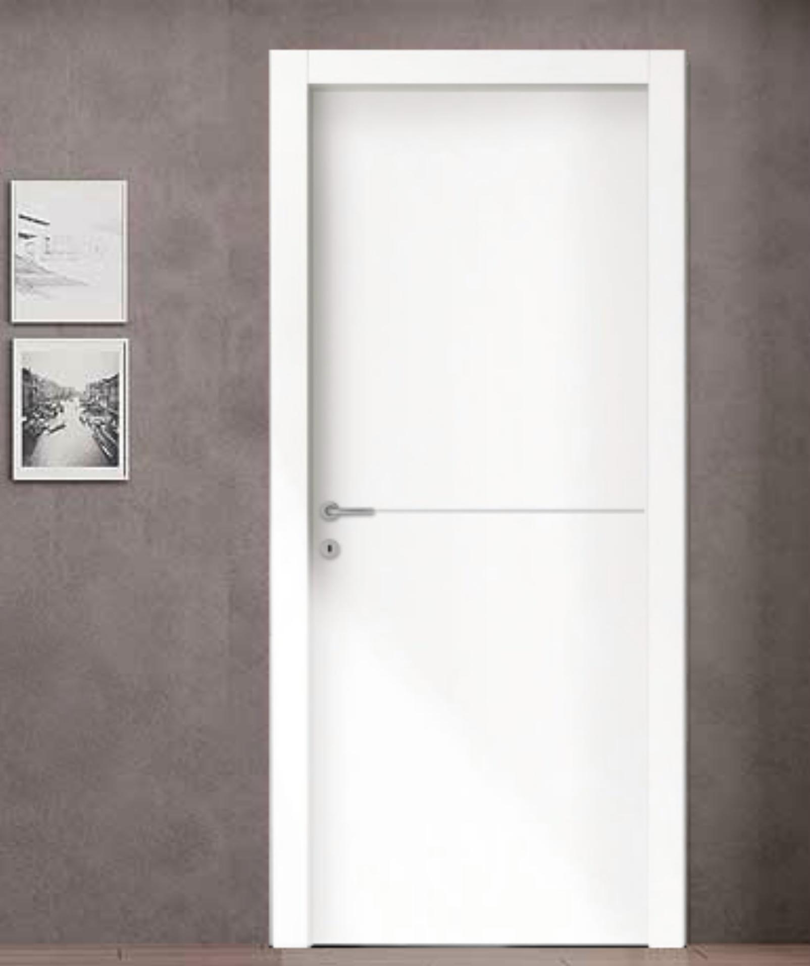 Porta interna legno con 1 inserto alluminio orizzontale - Colori per porte interne ...