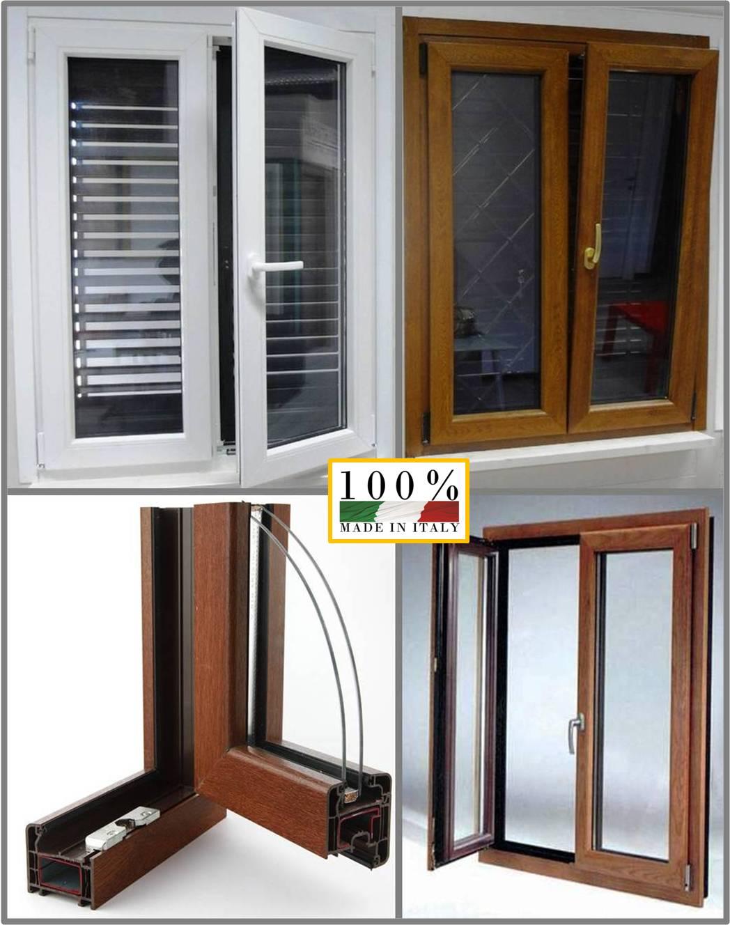 Finestre finestra infissi pvc color legno costo di un pezzo iva compresa ebay - Finestra scorrevole costo ...
