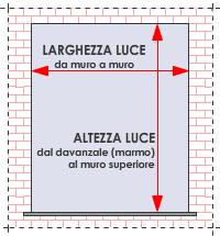 Zanzariera su misura pliss x porte finestre minimo for Finestre velux misure standard