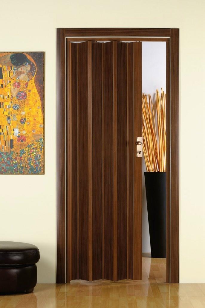 Porta a soffietto in pvc su misura linea finto legno e - Porta a soffietto usata ...