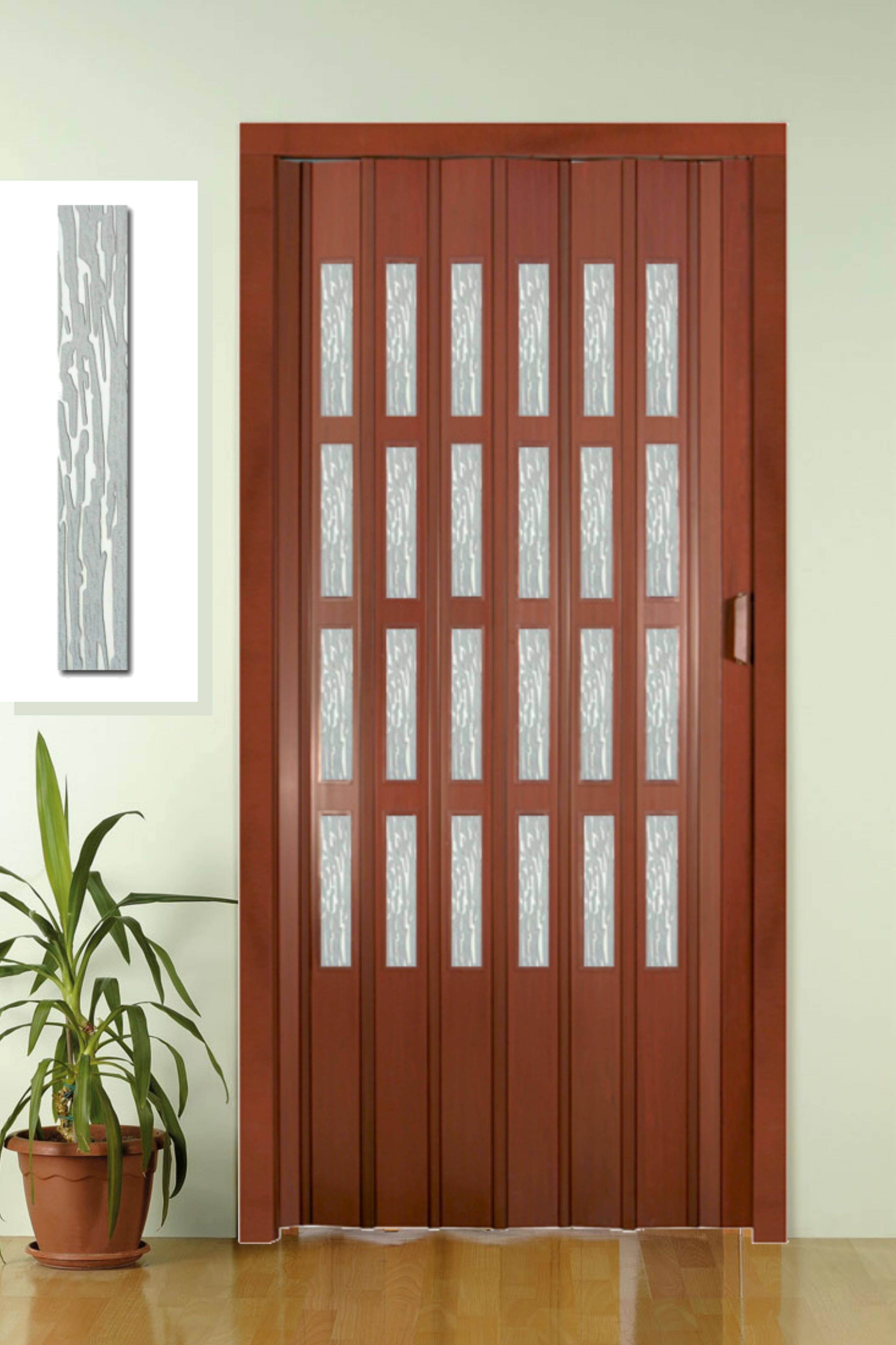 Porta a soffietto in pvc completa di vetrini niagara 9 colori prezzo al mq ebay - Prezzo finestre pvc al mq ...